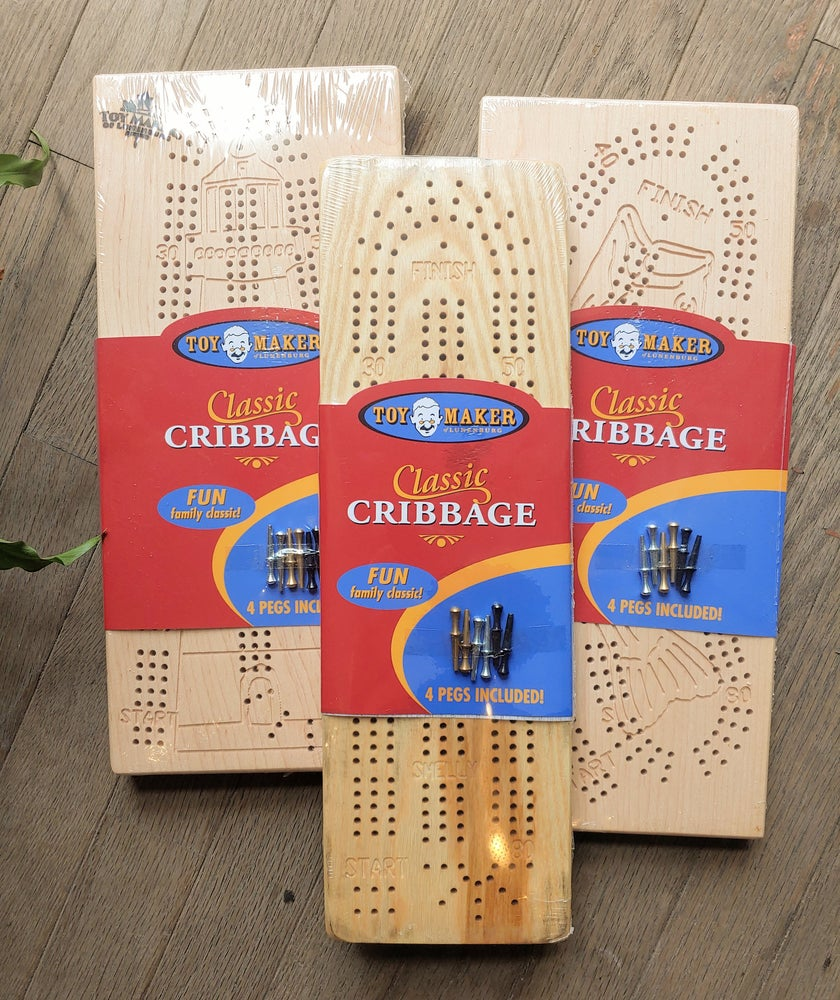 Image of Wooden Cribbage Board