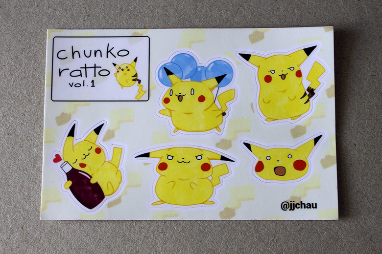 Image of chunko ratto sticker sheet (vol. 1)