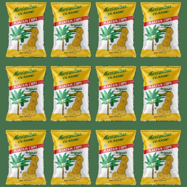 Image of Mariquitas Plantain Chips Original (5 oz, 12 Pack)