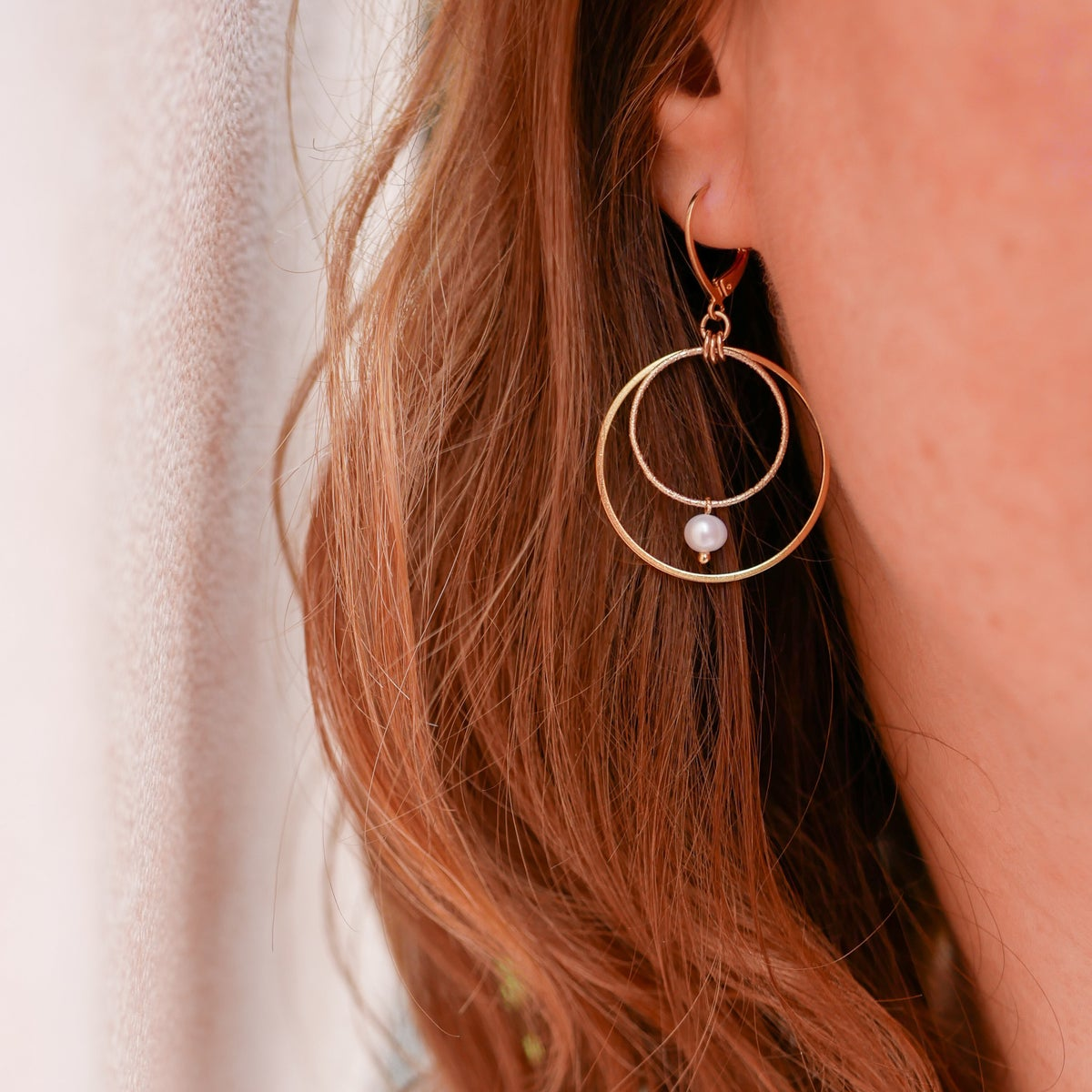 Image of Boucles D'Oreilles OXANA Double Loop