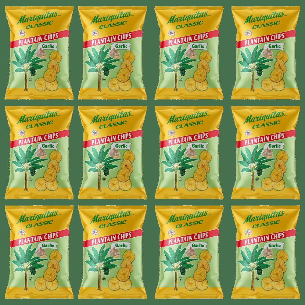 Image of Mariquitas Plantain Chips Garlic (4.5 oz, 12 Pack)