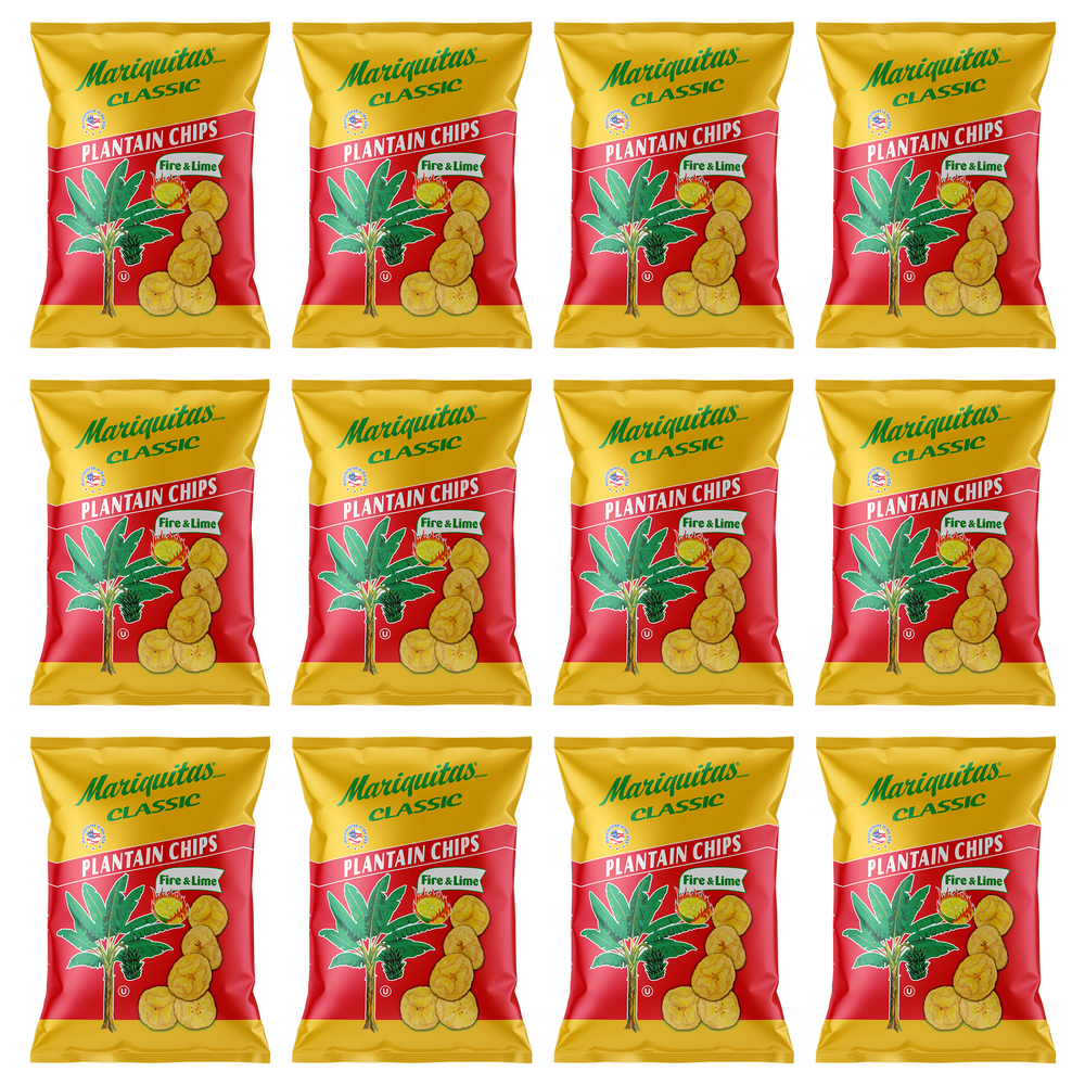 Image of Mariquitas Plantain Chips Fire & Lime (4.5 oz, 12 Pack)