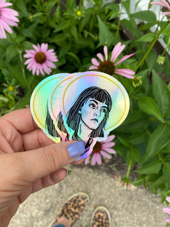 Image of St. Joan Holographic Sticker