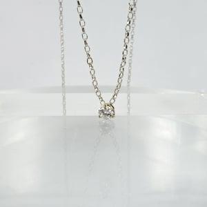 Image of 9ct white gold diamond solitaire pendant