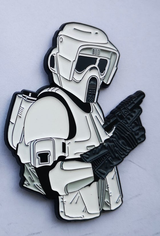 "Image of Biker Scout 2.5"" Bust Lapel Pin #9 in Series"