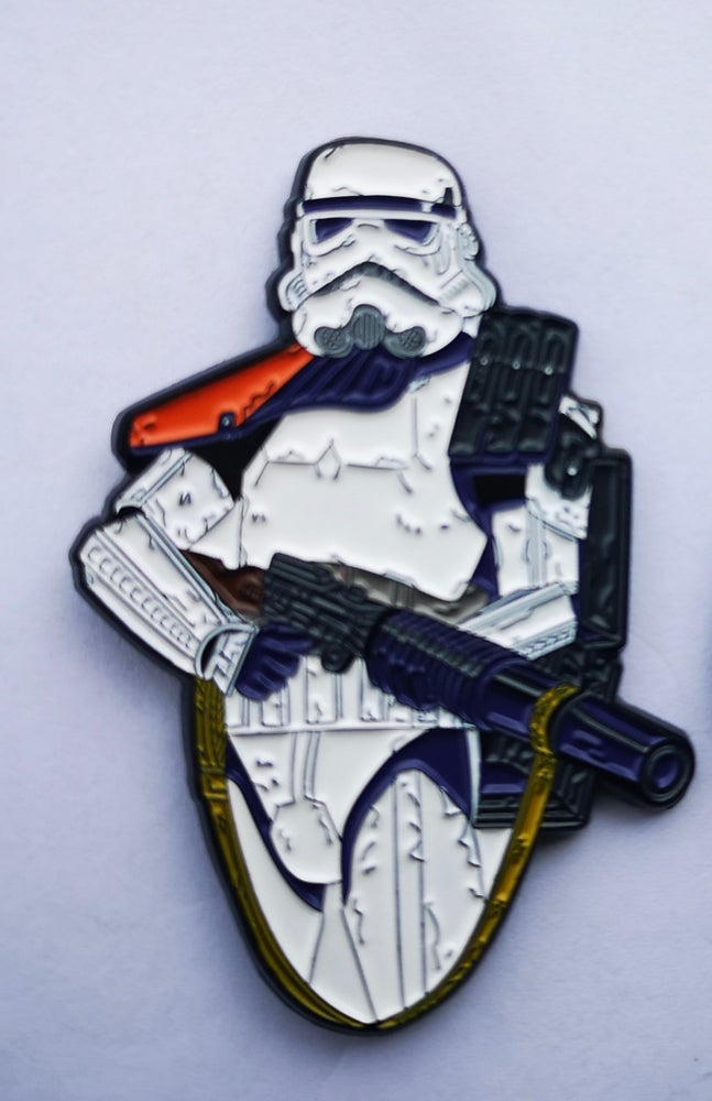 "Image of Sandtrooper 2.5"" Bust Lapel Pin #10 In Series"