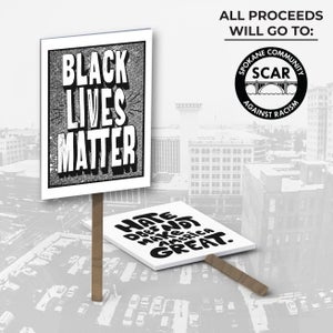 Protest Sign #1: Black Lives Matter (Halftones)