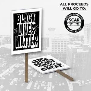 Protest Sign #2: Black Lives Matter (Solid)