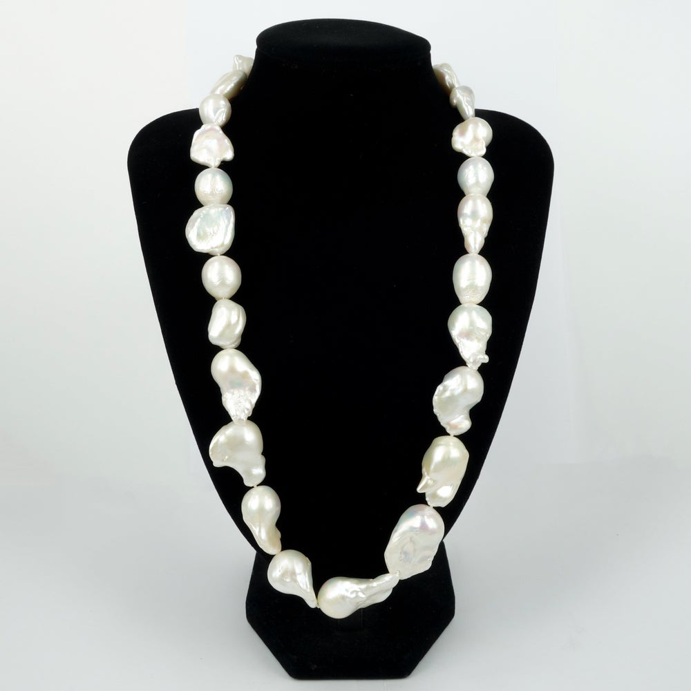 Image of Large freshwater Baroque pearl necklace