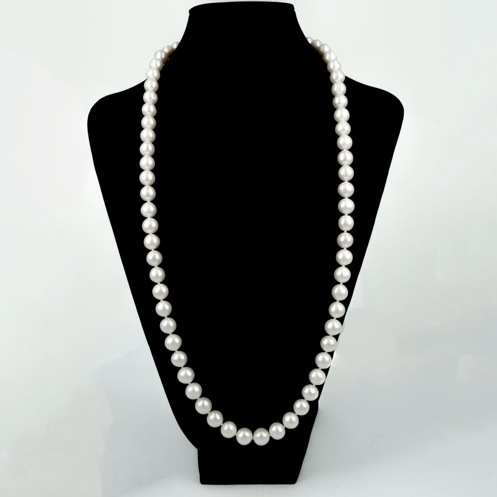 Image of Freshwater white pearl necklace