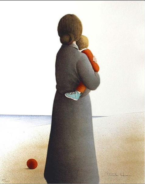 Image of Michele Lehmann -  'Mother And Child'  - Limited Edition Stone Lithograph