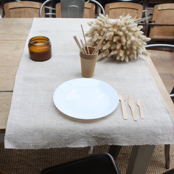 Image of Chemin de table en chanvre ancien.