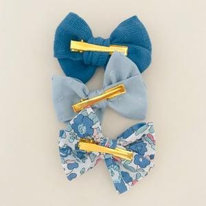 Image of Barrette coton lange bio bleu