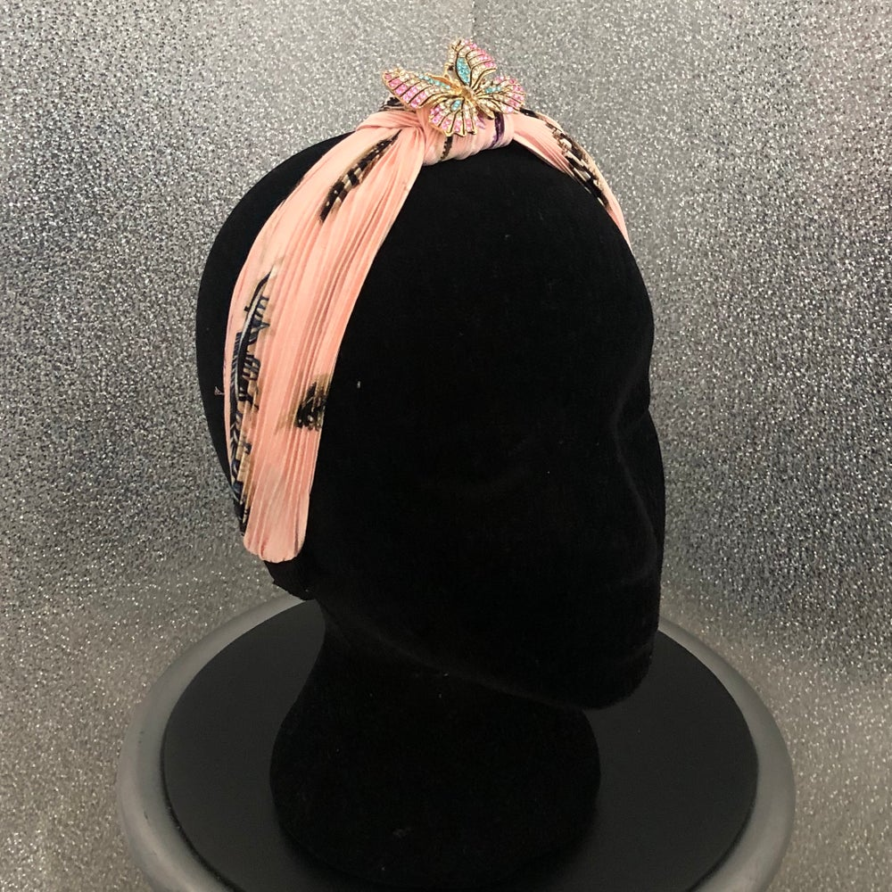 Image of Pink Butterfly Headband