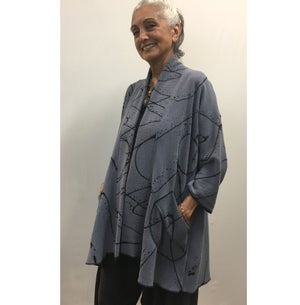 Image of Tencel Jacket - Hand Painted - Alison Style