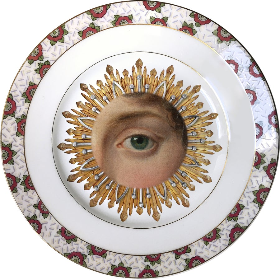 Image of Lover's Eye - Green - Burst - Vintage Fine Bone China - #0541