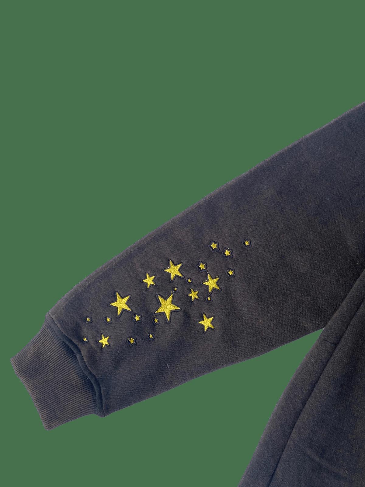 Image of VINTAGE BLACK CELESTIAL STARBOY OVERSIZED PULLOVER HOODIE