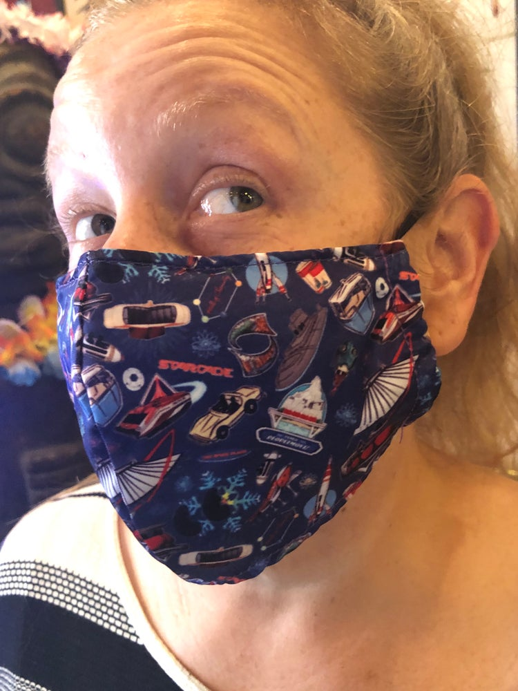 Image of Yesterday's Tomorrowland Face Mask (non medical)