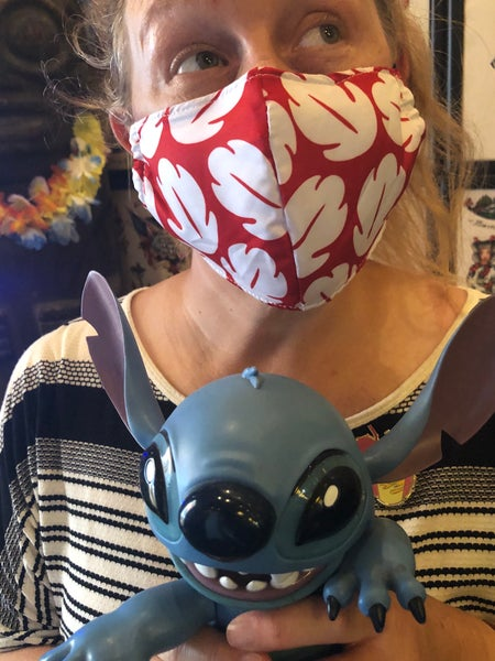 Image of Aloha Lilo Print Face Mask (non medical)