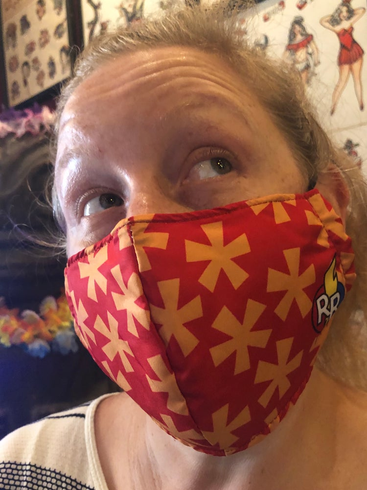 Image of Rescue Aloha Print Face Mask (non medical)