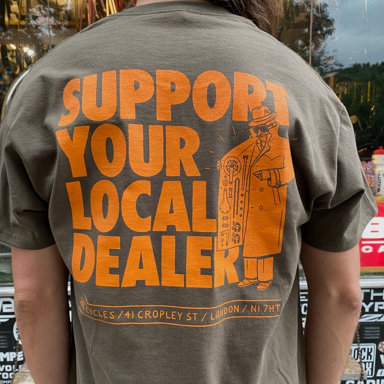 Image of Support Your Local Dealer - Olive / Orange