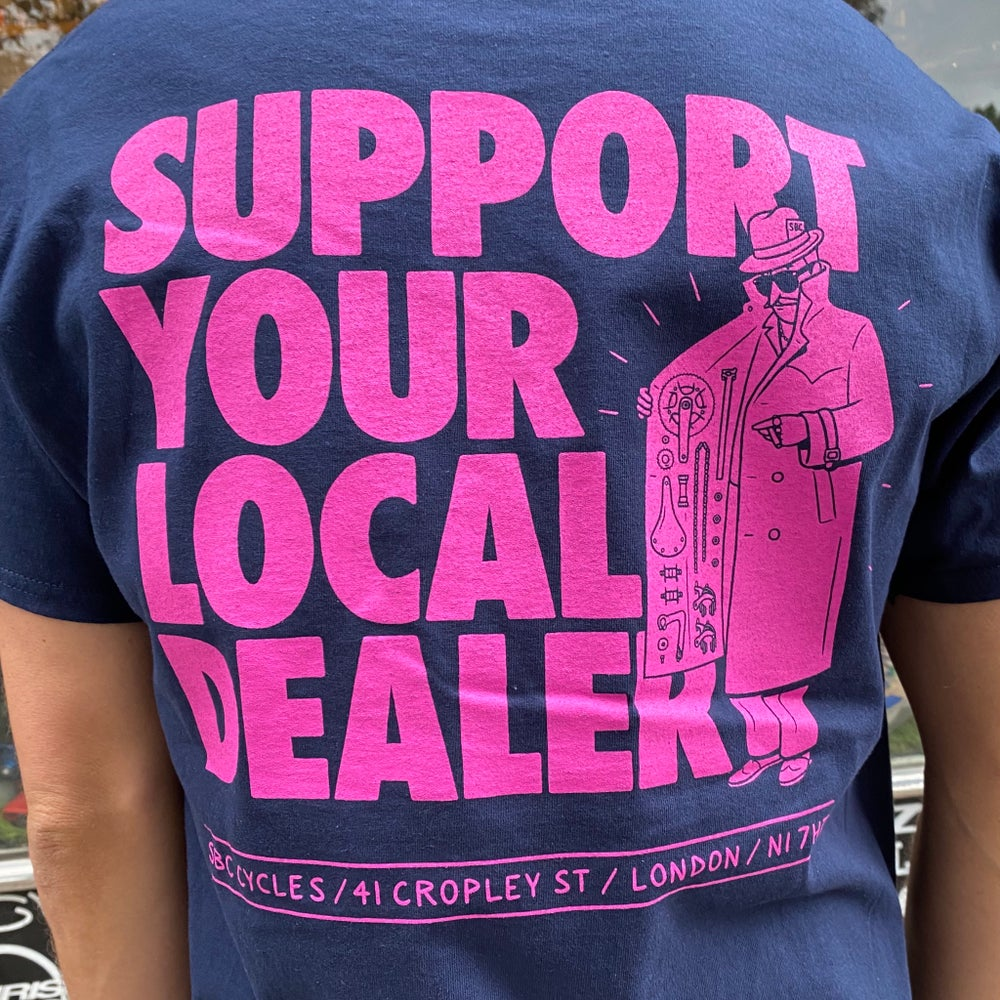 Image of Support Your Local Dealer - Navy / Pink
