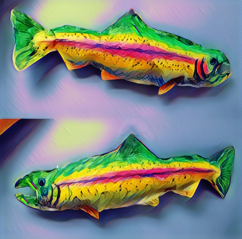 Image of Salmon Brothers (twin stickers)