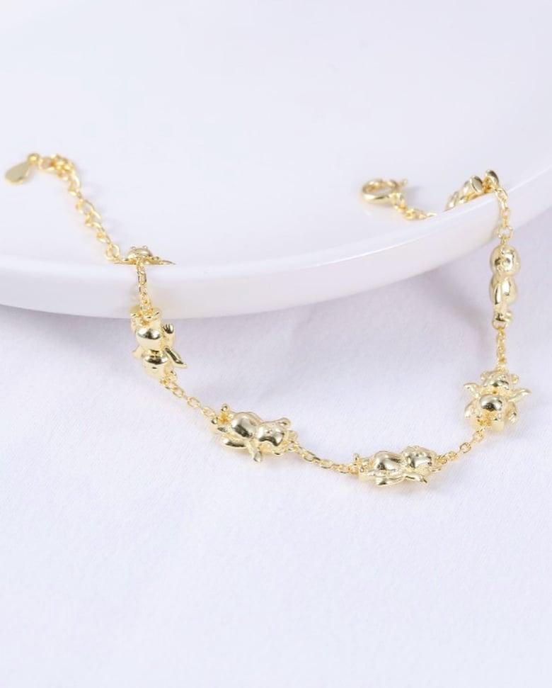 Image of 18k Gold Plated Bearz Bracelet.