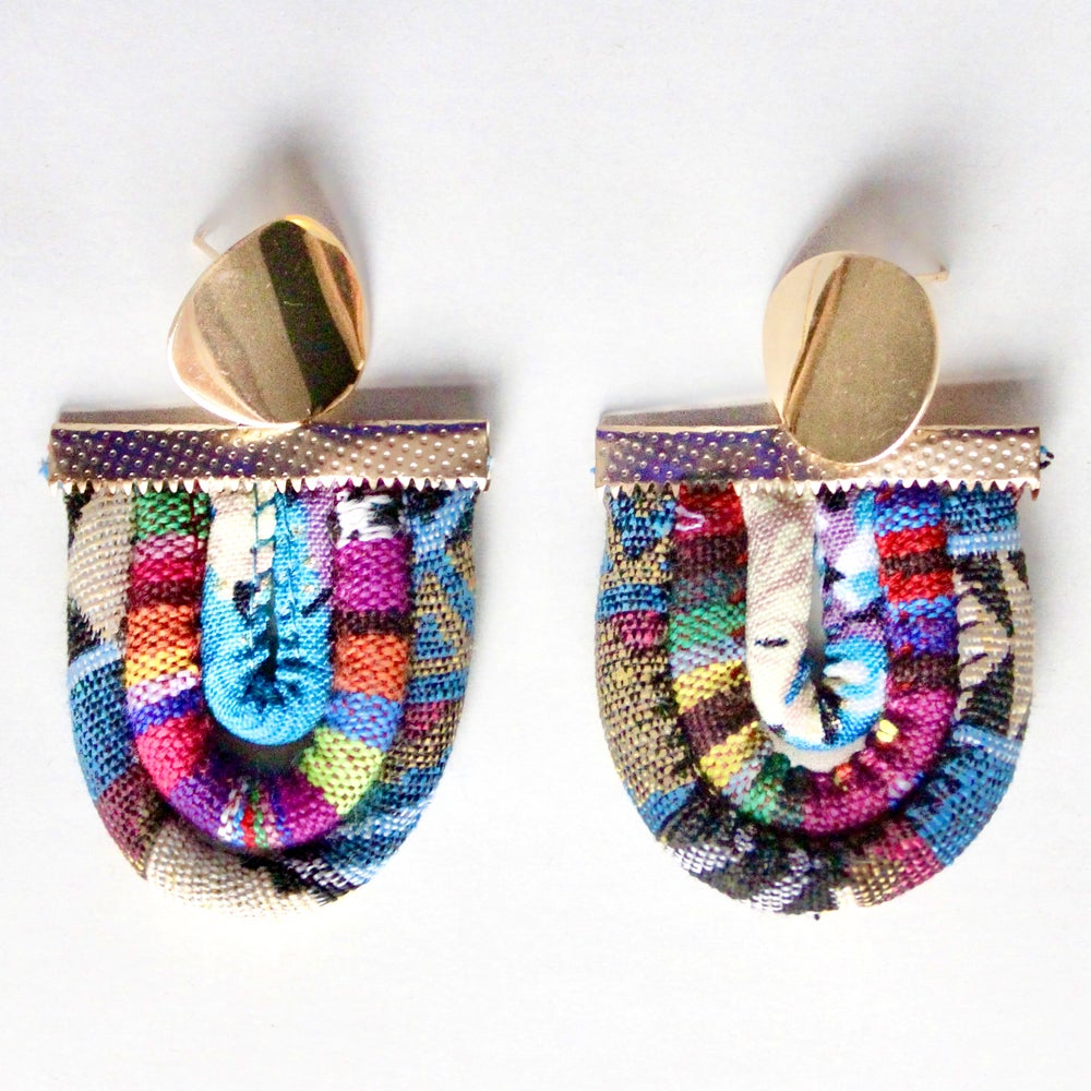 Image of ASILI - Multicoloured Rope Statement Earrings – Fuchsia