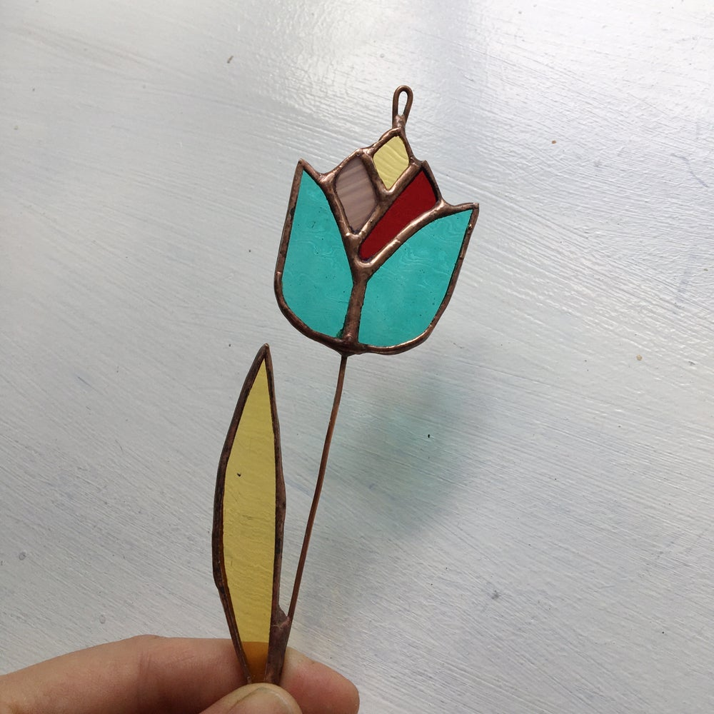 Image of Whimsical Multi-Colored Flower Stem - ABJ x BreatheLiveExplore