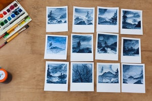 Image of Watercolor Polaroids from the Isles of Curiosity and Wonder