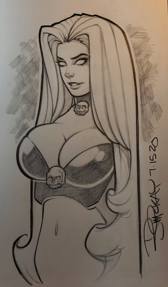 Image of Lady Death More Naughty! Art Book with Inside Sketch