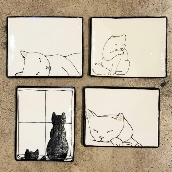 Image of Ceramic Kitty Trays