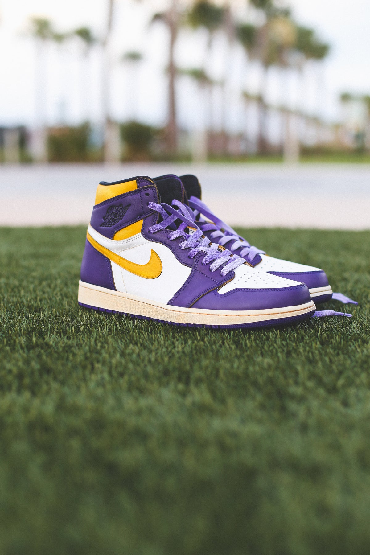 "Image of Jordan 1 ""Lakers 85"" inspired"