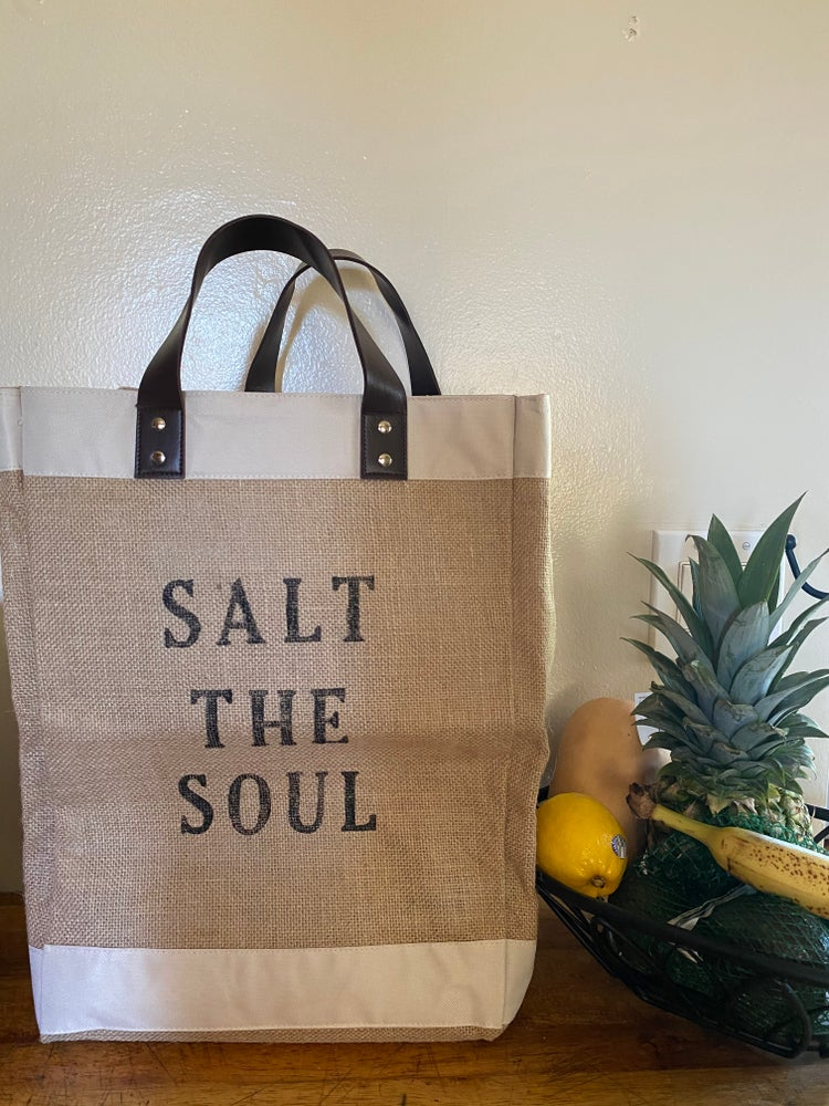 Image of SALT THE SOUL JUTE MARKET BAG