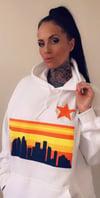 Houston Skyline White Hoodie