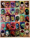 Luchador Blocks Print