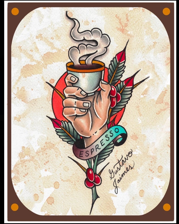 """Image of """"Double Shot"""" 8.5x11 inch print"""