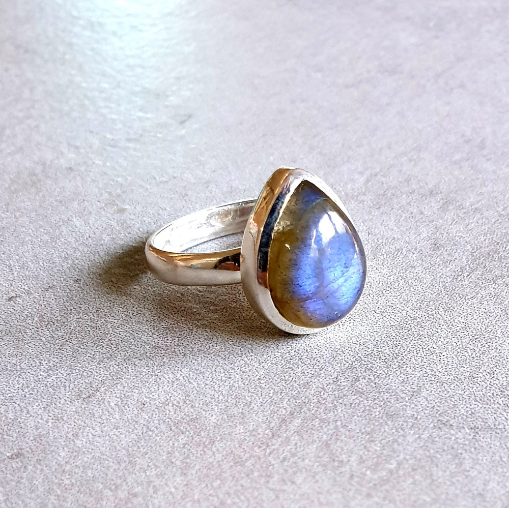 Image of LABRADORITE Sterling Silver Tear Drop Ring