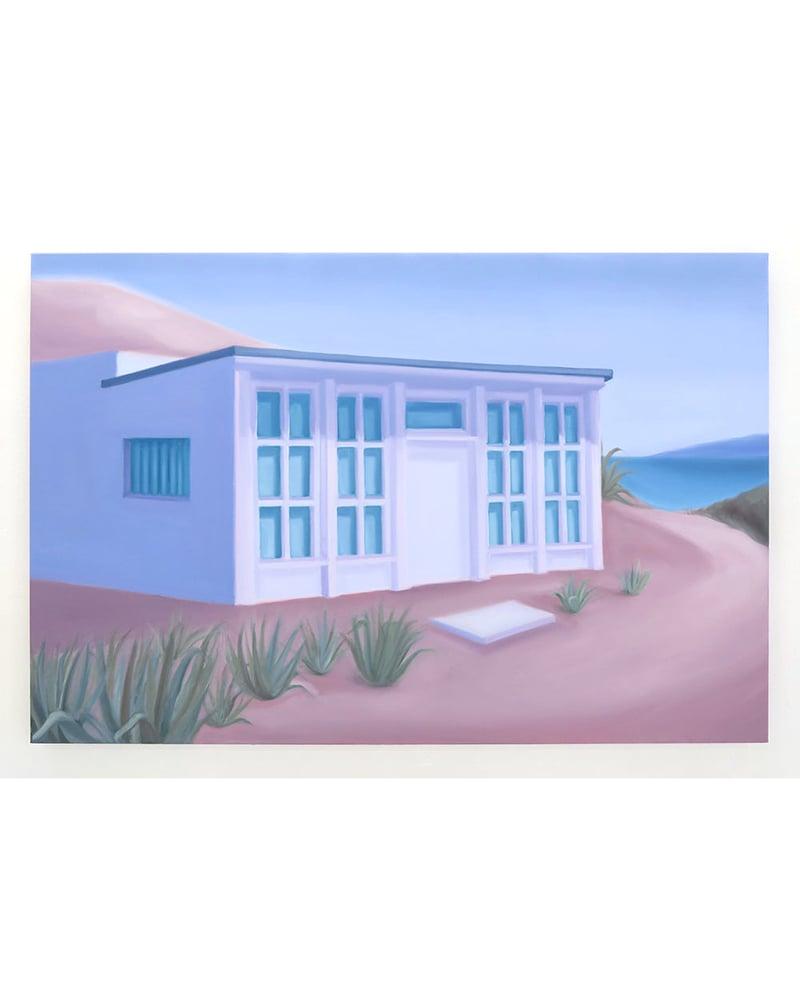 Image of Lucy O'Doherty 'Oasis shack at Calanque de Marseilleveyre'. Original artwork 2018