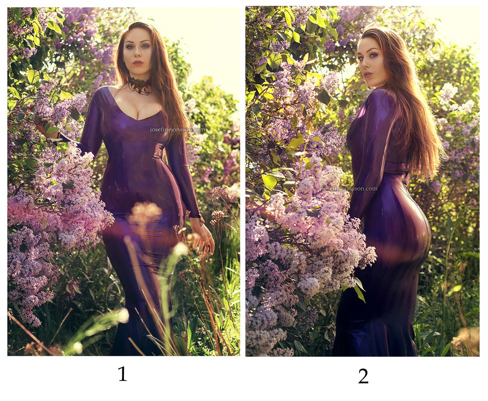 Image of high quality print A4 or A3 Josefine Purple dress