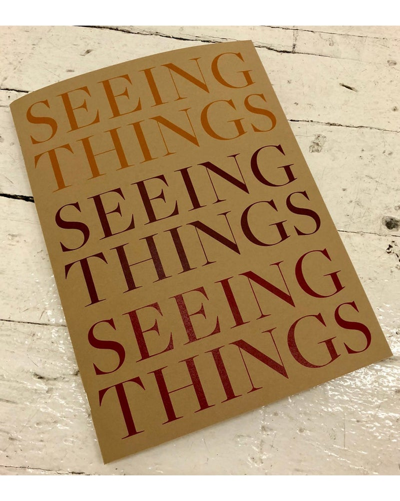 Image of 'Seeing Things' exhibition publication by Max Berry