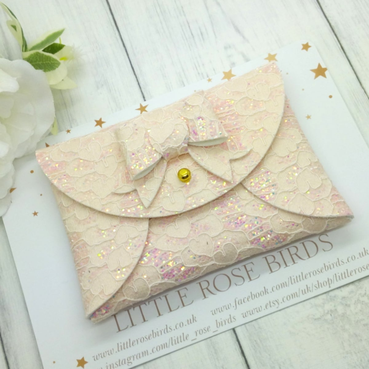 Image of Choose Your Colour Glitter Lace Coin Purse