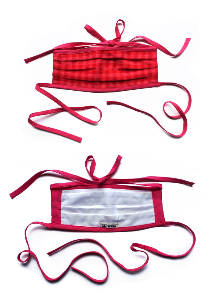 Image of Reusable Gingham Face Mask