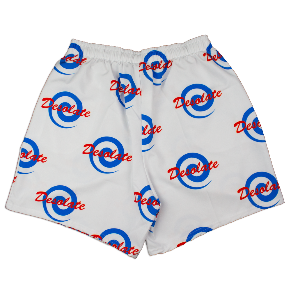 Image of Logo Shorts (White)