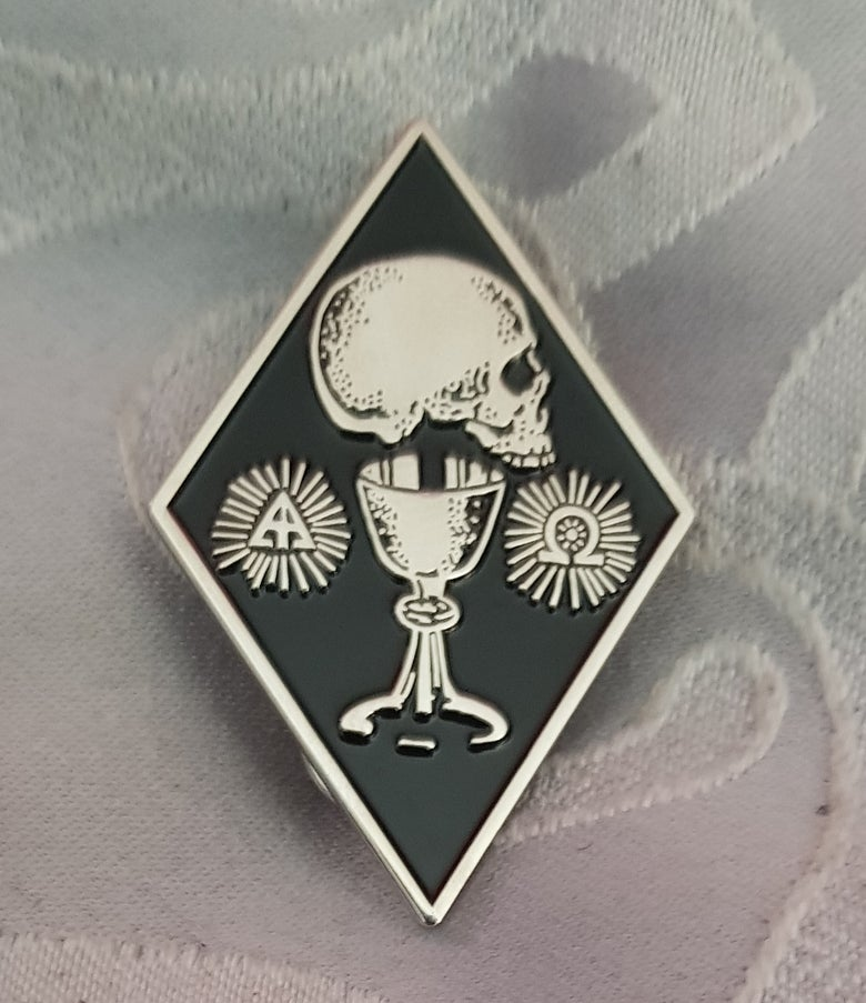 Image of The Occultist limited edition shaped enamel pin
