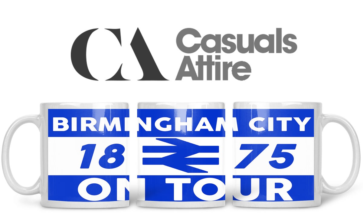 Birmingham City, Football fan, casuals, ultras, fully printed mug.