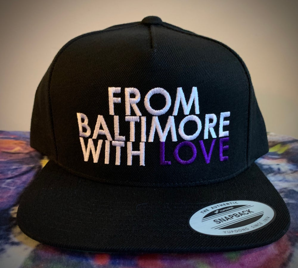 Image of From Baltimore With Love Snapback, Black/Purple