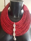 Leather Stranded Choker Necklace