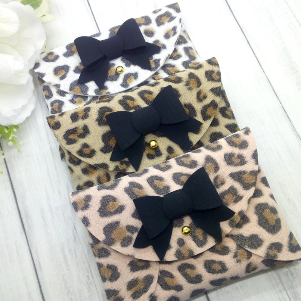 Image of Choose Your Colour Leopard Print Faux Suede
